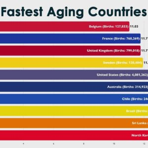 Fastest Aging Countries (Birth Rate Comparison 2021)