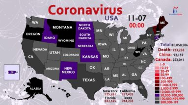 How the Coronavirus Infected 10 Million People in the US (Map Timelapse)