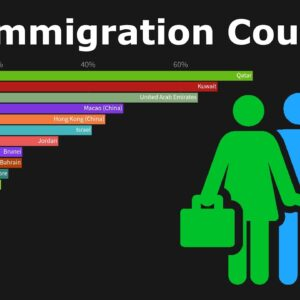 Top 20 Countries Hosting International Immigrants (as a Percentage of the Total Population)