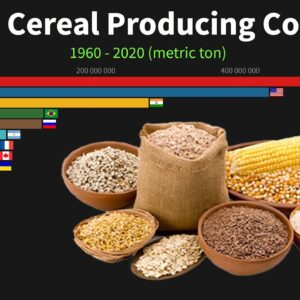 World's Largest Cereal Producing Countries from 1960 to 2020