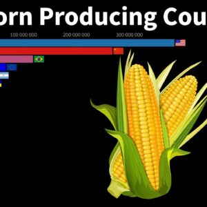 World's Top Corn Producing Countries (from 1960 to 2021)