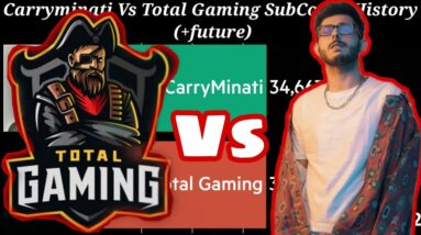Total Gaming Race To India's No. 1 YouTuber | Can Total Gaming Beat Carryminati...?