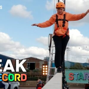 I Just Broke The GUINNESS WORLD RECORDS Title For Elevated Beam Running!
