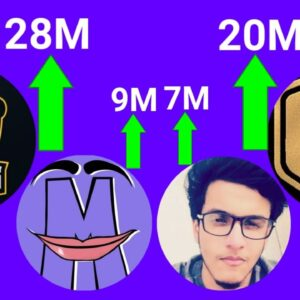 Techno Gamerz To 20 Million | Total Gaming To 27 Million | Mythpat 9M | Live Insaan 7M
