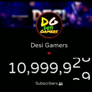 Exact Moment Desi Gamers Hits 11 Million Subscribers