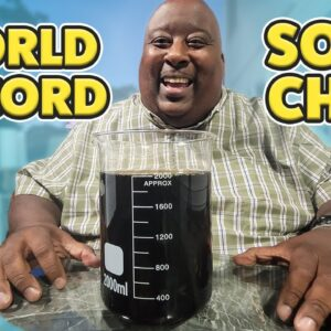 Fastest 2 Liter SODA CHUG with Badlands - Guinness World Records