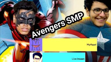 Most Subscribed Avengers SMP Gamers   Ft. Mythpat,Live Insaan