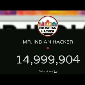 MR. INDIAN HACKER HITS 15 MILLION SUBSCRIBERS
