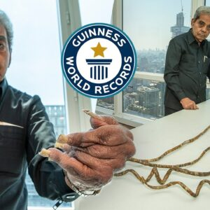 Why he cut his nails after 66 years - Guinness World Records