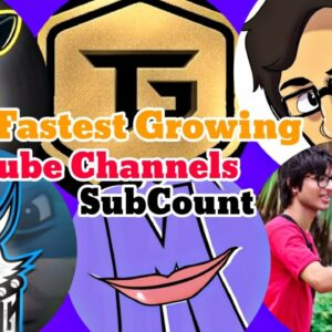 Fastest Growing YouTube Channels Live Subscriber Count @Techno Gamerz @Total Gaming