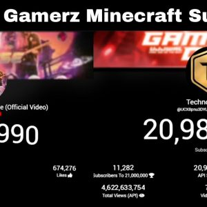 Techno Gamerz Minecraft Surprise Countdown | Coldplay X BTS - My Universe Live View Count