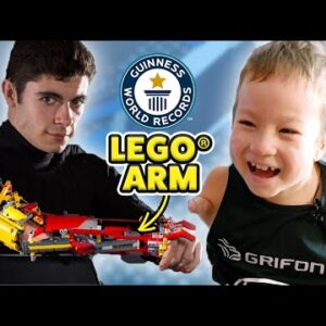 Surprising an 8-year-old with a new LEGO® arm - Guinness World Records