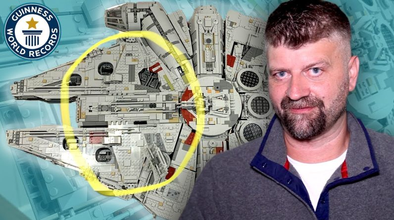 Fastest build of the LEGO® Millennium Falcon (GONE WRONG) - Guinness World Records