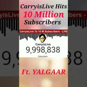 CarryisLive Hits 10 Million Subscribers   Exact Moment #shorts