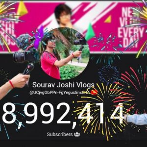 Sourav Joshi Vlogs To 9 Million Subscribers Live Count